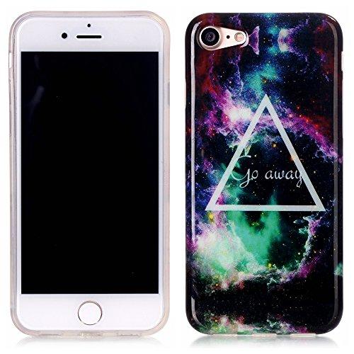 TPU Silikon Schutzhülle Handyhülle Painted pc case cover hülle Handy-Fall-Haut Abdeckungen für Smartphone Apple iPhone 7 (4.7 Zoll) +Staubstecker (6GW) 9