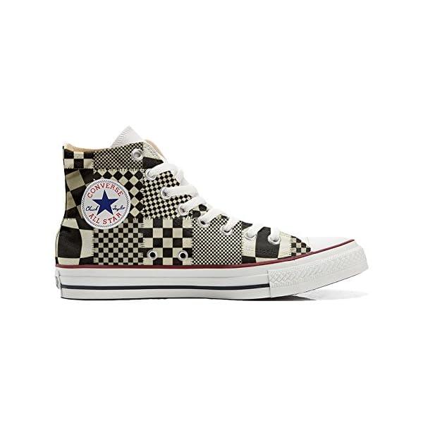 Converse Personalizados All Star Customized – Zapatos Personalizados (Producto Artesano) Pachtwork Texture