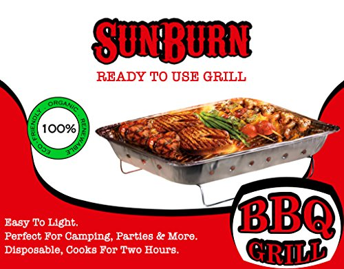SunBurn Ready to use Barbecue Grill comes pre-filled with charcoal and starter