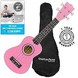 Ukulele soprano rosa con gigbag e online ukulele naturalmente
