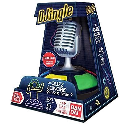 Bandai Funs & futés-Djingle-Blind Test société-Jeu d'ambiance interactif pour la Famille et Les Amis, ZZ06208