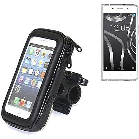 Montaje de la bici para BQ Readers Aquaris X5 Plus, montaje del manillar para smartphones / teléfonos móviles, de aplicación universal. Conveniente para la bicicleta, motocicleta, quad, moto, etc. repelente al agua, a prueba de salpicaduras a prueba de lluvia, sostenedor del teléfono móvil de la bicicleta. | Bastidores de bicicletas Bikeholder bicicletas Navi titular titular GPS Pannier BQ Readers Aquaris X5 Plus manillar montar la caja al aire