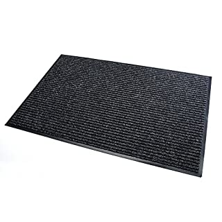 High Quality Rug & Shoe Scraper ✓ Extremely Durable ✓ Exterior and Interior ✓ Washable ✓ PVC Free - Entrance Mat, Welcome Mat - Exterior dust mat, Dirt trapping mat (MULTI 80x120 cm, black)