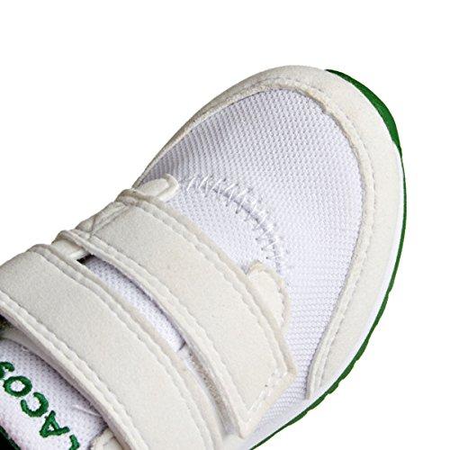 Lacoste L.Ight 116 1 Spi, Baskets Basses Mixte Enfant Blanc - Weiß (WHITE 001)