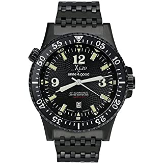 Xezo for Unite4:good Air Commando Pilots Divers Automatic Watch, Swiss Sapphire and Citizen Movt. 20 ATM