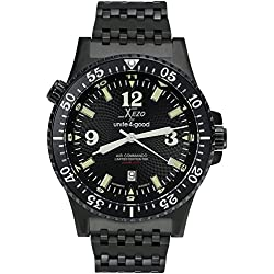 Xezo für Unite4:good Air Commando-Uhr (Automatik) für Piloten und Taucher,Schweizer Saphirglas, Citizen-Uhrwerk.20 ATM