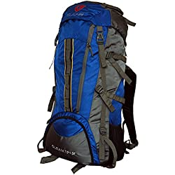 Gleam Royal Blue & Grey 75 Ltrs Polyester Trekking Bag With Rain Cover