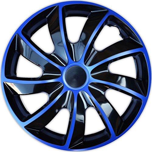 TEILE-24.EU Malinowski 4 Radkappen 16 Blau Radzierblenden Radblenden Satz 16 Zoll Schwarz Blau Bicolor Q16B, Neu & OVP Top Angebot !