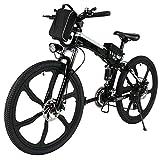 cooshional 26 zoll Elektrofahrrad 21 Speed E-Bike Faltbares Elektrisches Gebirgsfahrrad mit Lithium-Batterie