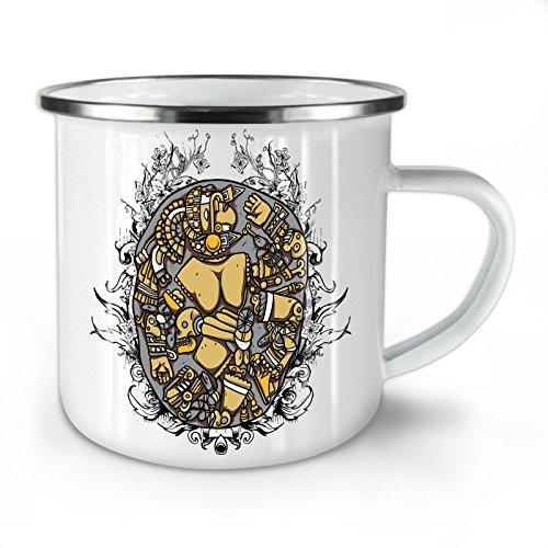 Mosaic Art Random Fashion Death Yard White Enamel Mug 10 oz | Wellcoda
