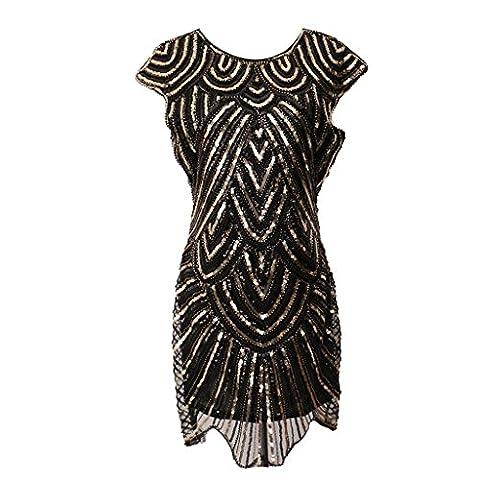 Flapper Robes Fille - Sharplace Femme Fille Robe Flapper Vintage Robe