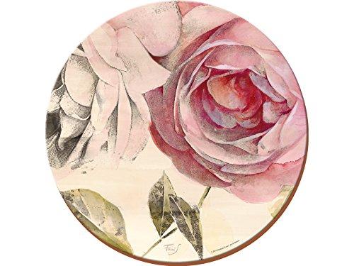 Creative Tops Antique Rose Rond Cork-Back Premium Sets de Table, Lot de 4