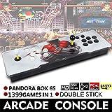 Pandoras Box 6s | Double Stick Arcade Console Light | Doppelstock 720P Retro-Videospiele Doppelstock-Arcade-Konsole|HDMI/VGA-Ausgang| Integrierte Lautsprecher