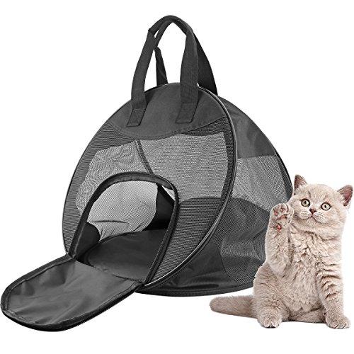 Texsens Haustier Tragetasche Katze Transporttasche Faltbare Transportbox atmungsaktiv Hunde Reise tragbare Tasche Camp Hundebox für Hunde Katzen