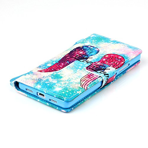 Meet de Huawei P8 Lite Bookstyle Étui Housse étui coque Case Cover smart flip cuir Case à rabat pour iPhone 4S Coque de protection Portefeuille - Never stop dreaming barrière