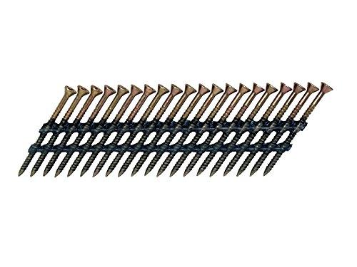 Fasco scps713fvegsf 33-degree verzinktem Scrail Kunststoff-Streifen magazinierte Nagelschraube gurthalteband mit 2-1/10,2cm Bein (1000Pro Box) -