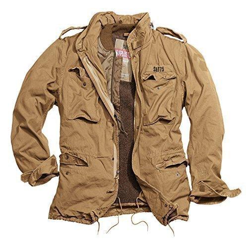 Trooper M65 Regiment Jacke, beige, Size 4XL + UD Thinsulate Beanie (Winter-thinsulate Jacke)