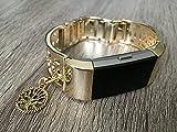 Bracelet en argent pour bracelet de suivi d'activité Fitbit Charge 2HR, bracelet à motif floral pour moniteur de fréquence cardiaque Fitbit Charge 2