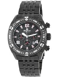 Burgmeister BM324-622 - Reloj de caballero de cuarzo, correa de acero inoxidable color negro