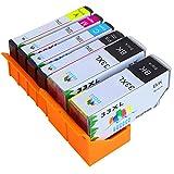 GUCOCO Hohe Kapazität 6 Multipack Packung Epson 33 33XL Kompatible Tintenpatrone für Epson XP-530 XP-540 XP-630 XP-635 XP-640 XP-645 XP-830 XP-900 Drucker (2 PGBK, 1 Black, 1 Cyan, 1 Magenta, 1 Yellow)