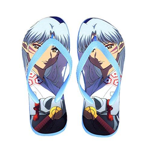 Bromeo Inuyasha Anime Unisex Flip Flops Zehentrenner Flip Pantoffeln 601
