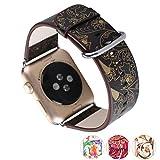 X-cool Apple Watch Bracelet 42mm Cuir doux Conception de saisons pour Apple Watch Series 3 /2/1(Hiver-42)