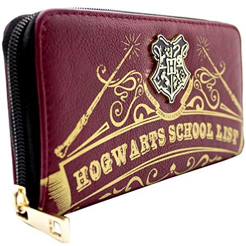 Harry Potter Hogwarts Schulliste Rot Portemonnaie Geldbörse (Geldbörse Harry Potter)