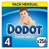 Dodot Bebé-Seco Pañales Talla 4, 256 Pañales,...