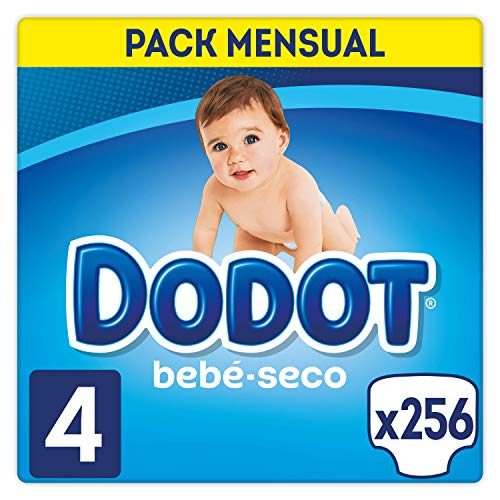 Dodot Bebé-Seco Pañales Talla 4, 256 Pañales,