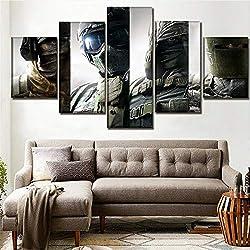 Mddrr Wall Art Poster Modern Leinwanddruck 5 Stück Tom Clancy Rainbow Six Belagerung Malerei Decor Wohnzimmer Rahmen Bild Wohnzimmer Dekoration