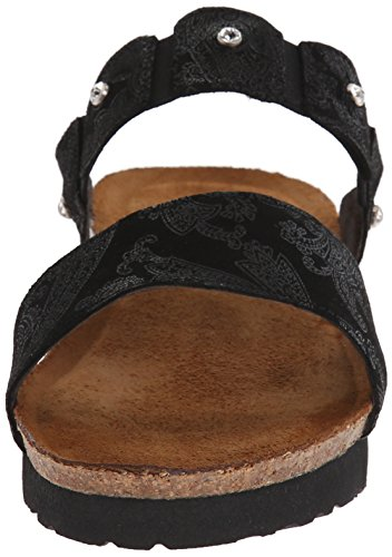 Naot Womens Ashley Leather Sandals Black Lace