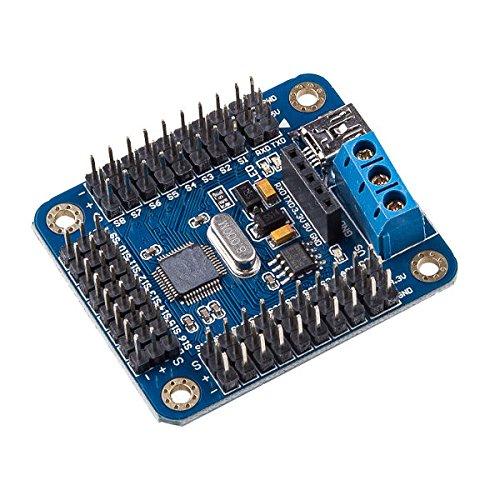 Preisvergleich Produktbild Bluelover 24 Kanal Servo Motortreiber Controller Modul Für Arduino Roboter