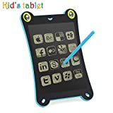 Children's Board LCD Writing Tablet NEWYES NYF850 8.5 inch Frog Handwriting Tablet Graphic Drawing Board Digital Portable Magnetic Magnetic Durable Pads Kid's Gift Pad (Blue-Frog)