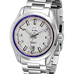 Lew and Huey Sporty Cerberus Automatic Dress Watch with 42mm SS Case CERBERUS_WHITE