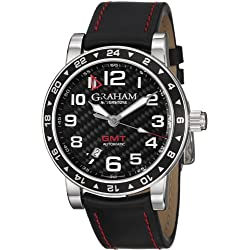 Graham Silverstone Time Zone GMT Automatic Stainless Steel Mens Strap Watch Calendar 2TZAS-B02A-L86S