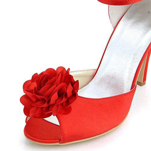 Kevin Fashion , Chaussure de mariée fashion femme Rouge - Rojo - Style2-Red