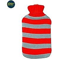 EDM Wärmflasche aus Wolle mit Roten Streifen 2 Liter APROX preisvergleich bei billige-tabletten.eu