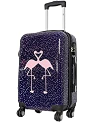 Koffer Flamingo Größe L Polycarbonat Hartschale Reisekoffer Trolley Case Bowatex
