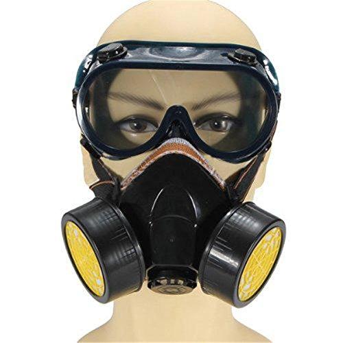Funpa Maschera Respiratoria Maschera Antigas Per Esterni Maschera Integrale Per La Protezione Delle Vie Respiratorie Con Occhialini