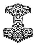 Pegatinas Thor Martillo 4, plástico, negro, 10 x 7 cm