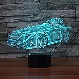 Racing 3D décoratif LED veilleuse 7 changement de couleur chevet veilleuse...