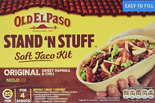 Old El Paso Stand n Stuff Soft Taco Kit, 2er Pack (2 x 345 g) Soft Stand