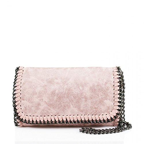 257cabe523 Womens Stella Design Chain Detail Cross Body Bag Ladies Shoulder bag Work  New Pink - Buy Online in Oman.