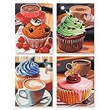 Schipper Cupcakes – … die süße Versuchung Malen nach Zahlen Quattro je 18 x 24 cm