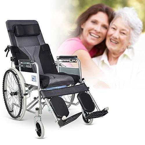 Toilettenrollstuhl, tragbarer mobiler Duschstuhl, klappbarer älterer Rollstuhl, Dicke Toilettensitz - Mobiler Duschstuhl