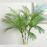 VGJJMNG Künstliche Blume Künstliche Palme Zweige Wilde Faux Laub Palme Blätter Pflanzen Für Haus Wohnzimmer Hochzeit Dekoration Dschungel Party Dekor