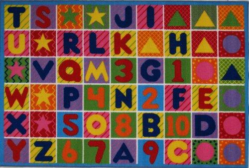 La Teppich Zahlen & Buchstaben Teppich 48,3x 73,7cm