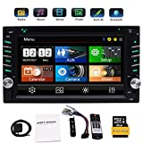 EinCar Double 2 Din GPS-Auto-Stereo DVD CD-Player mit 6,2 Zoll kapazitiven Touch Screen Unterstützung FM AM RDS-Radio Aux USB Dual SD Card Slot Bluetooth Audio Receiver + Fernbedienung