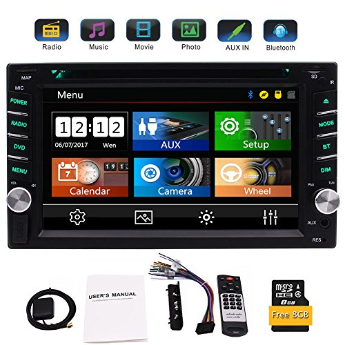 EinCar Double 2 Din GPS-Auto-Stereo DVD CD-Player mit 6,2 Zoll kapazitiven Touch Screen Unterstützung FM AM RDS-Radio AUX USB Dual SD Card Slot Bluetooth Audio Receiver + - Din Auto-cd-player-2