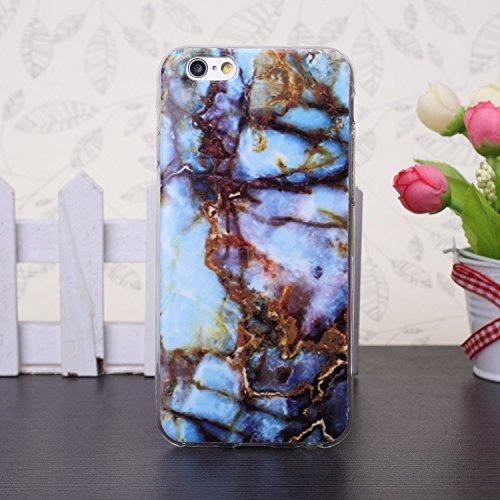 Se ekinhui iPhone 5S 5case, Patr ¨ ® n De M ¨ ¢ rmol IMD H ¨ ªbrido brillant souple C ¨ ¢ Scara Couverture arrière en TPU pour iPhone 5S 5SE B5